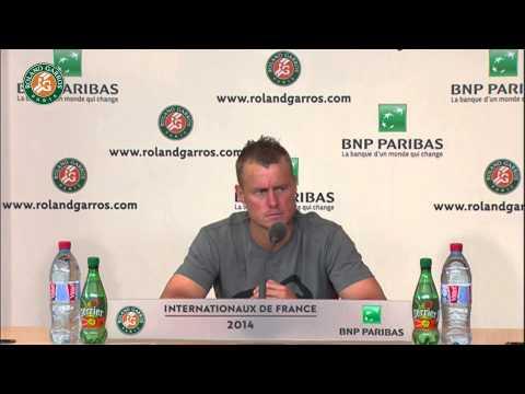 Roland Garros 2014 Tuesday Interview Hewitt