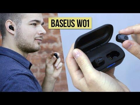 БЕСПРОВОДНЫЕ НАУШНИКИ BASEUS W01 - ОБЗОР и опыт использования - наушники с AliExpress