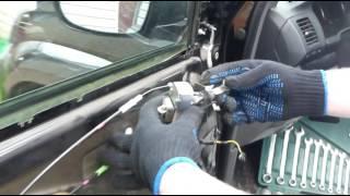 Установка ограничителя двери ПРАДО 120 (Lexus GX-470)