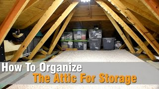 How to organize the attic for storage