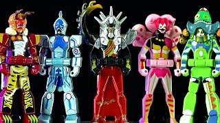 kyoryuger ranger key set deboth legion review power rangers dino charge