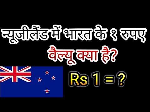 न्यूजीलैंड में भारत के १ रुपए कि वैल्यू क्या है ?new Zealand Currency , New Zealand Dollar