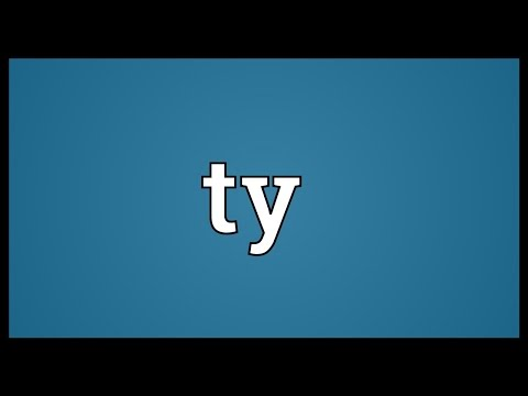 Ty Meaning