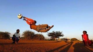African Children Training Goalkeeper !!!