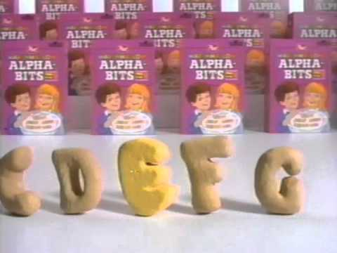 Alphabits Cereal Commercial