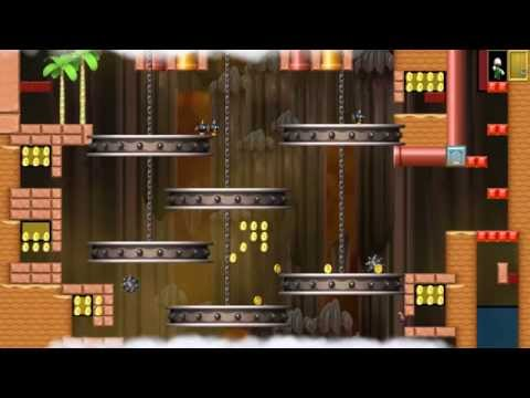 NSMBW Custom Level The Pit of 100 Trials (1-20) New Super Mario Bros Wii