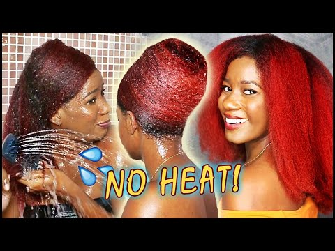 GET STRAIGHT HAIR with NO HEAT | Wet Wrap on NATURAL HAIR