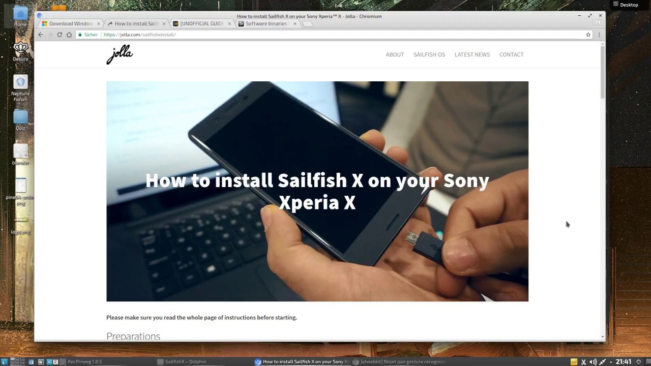 SailfishOS how to flash on Xperia X (under linux)