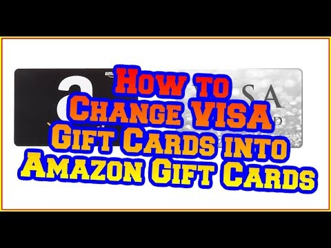 How To Change A VISA Gift Card Into An Amazon Gift Card