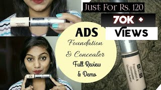 *NEW* ADS Double Action Foundation & Concealer || Review & Demo || Cheapest Foundation & Concealer