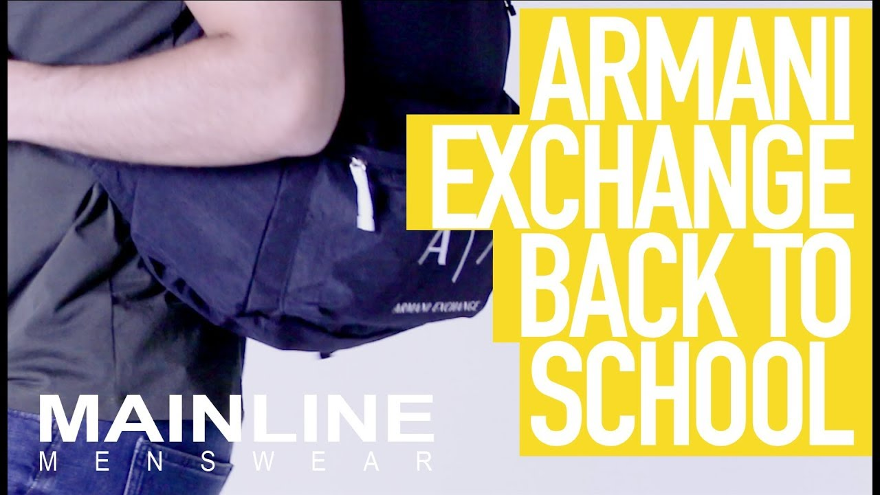 5a27d34ea2d Back to School with Armani Exchange