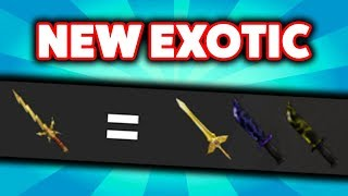 CRAFTING THE NEW STRIKER EXOTIC KNIFE! (ROBLOX ASSASSIN UPDATE )