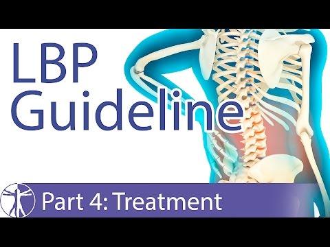 Low Back Pain Guideline: Treatment (Part 4)