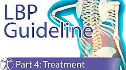 Low Back Pain Guideline: Treatment (Part 4)