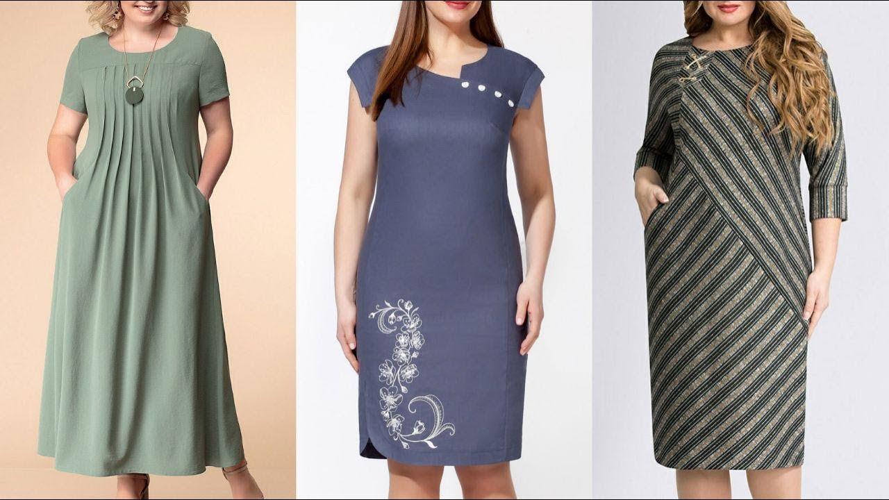 Modelos de vestidos casuales para señoras de 60 años