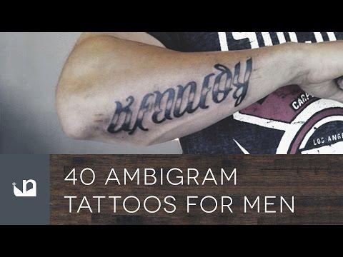 40 Ambigram Tattoos For Men