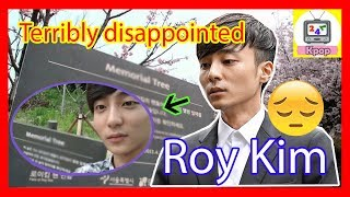 Roy Kim's fans was terribly disappointed because this