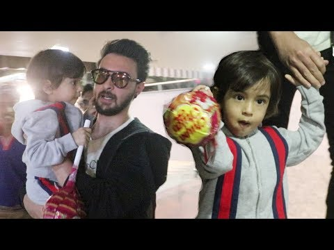 Salman Khan Nephew Ahil With Dad Aayush Sharma Spotted At Airport