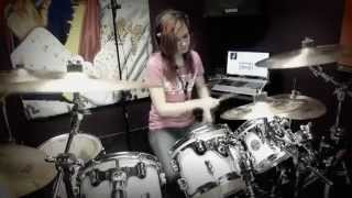 Repeat youtube video Master Of Puppets - Metallica - Nightcore Version - HD Drum Cover By Devikah