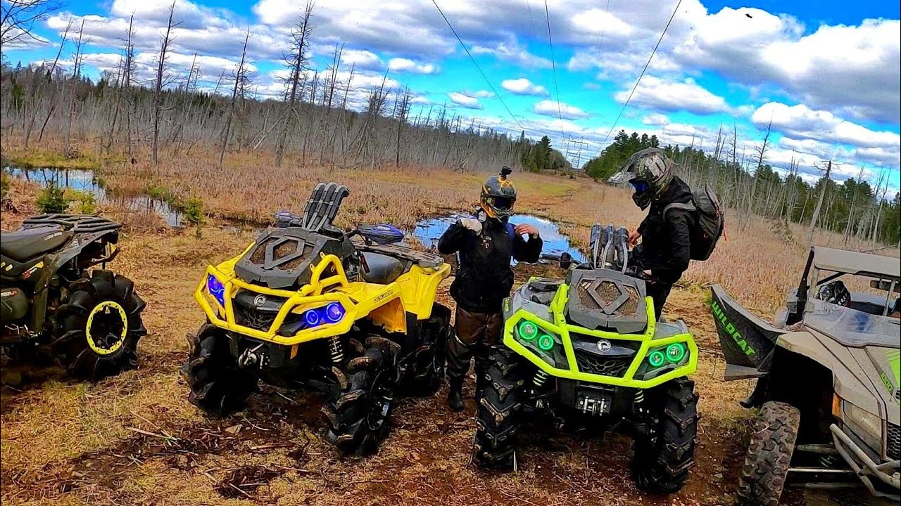 Shred Trail, Rip Swamps & Drop Trees?! (Can Am Renegade, Outlander)