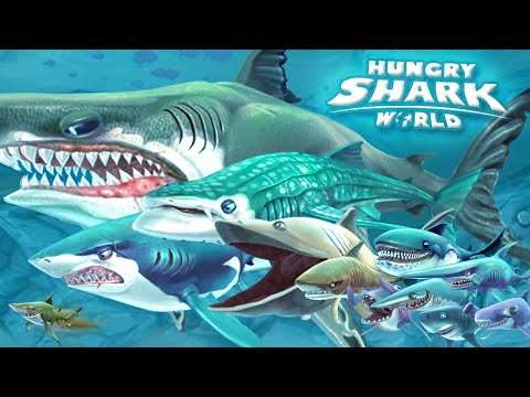 ALL SHARKS + TIPS & STRATEGIES - Hungry Shark World | HD
