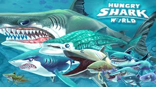 ALL SHARKS + TIPS & STRATEGIES - Hungry Shark World | GamePlay | HD