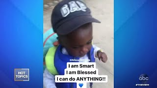 Little Boy Goes Viral for Daily Affirmations | The View