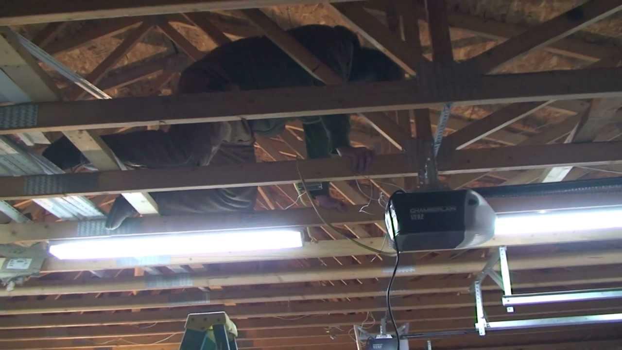 garage door opener wiring youtube