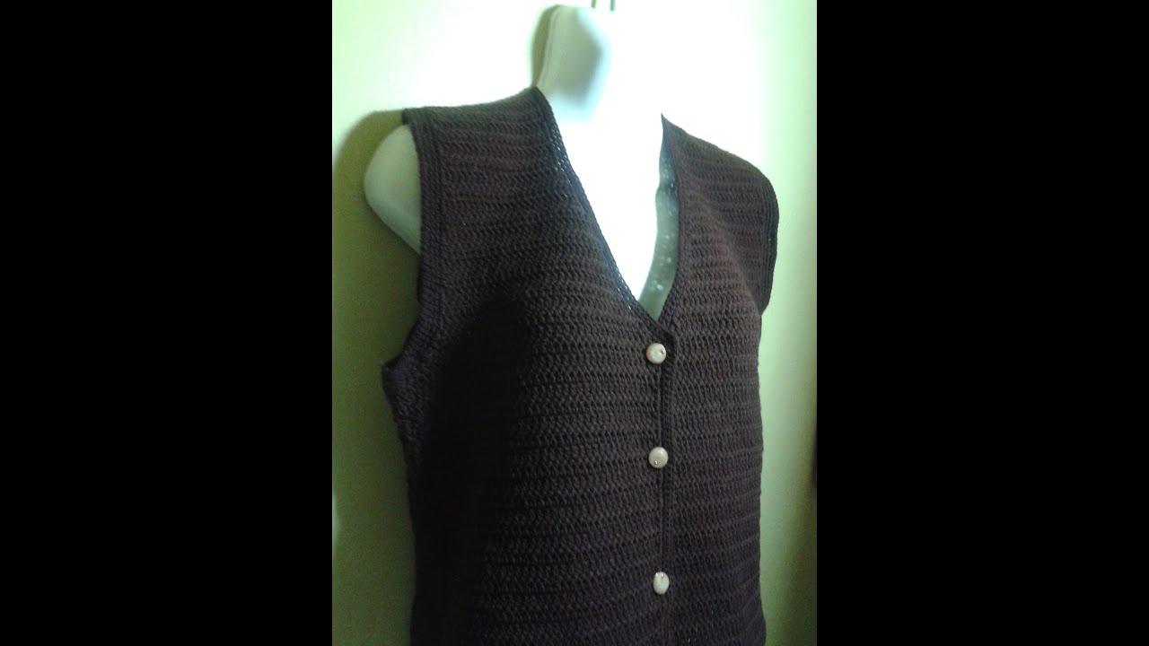 Cómo tejer un chaleco fácil y ligero a gancho o crochet. Parte 2 ...