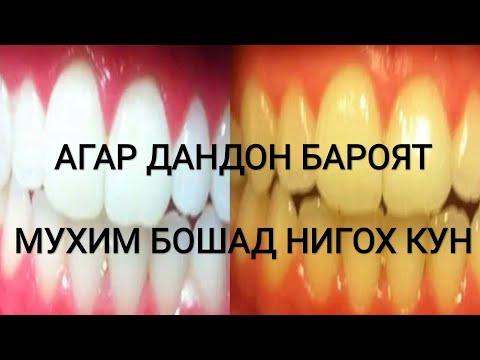 ОСОНТАРИН РОХИ ТОЗА ВА САФЕДКУНИИ ДАНДОН. хороший рецепт для зубы очень интересно