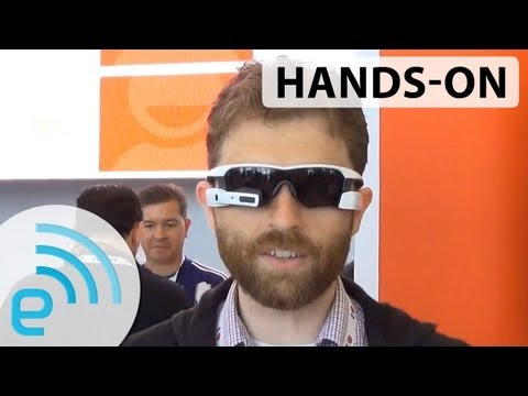 Recon Instruments Jet heads-up display sunglasses | Engadget at Google I/O 2013