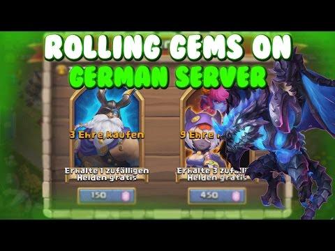 Castle Clash Rolling Gems On The GERMAN Server!