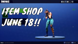 *NEW* OMEN SKIN AND WATERWORKS EMOTE!! FORTNITE ITEM SHOP - 18 JUNE 2018! UPDATE V4.4.1