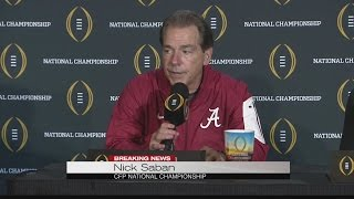 Nick Saban post-game press conference