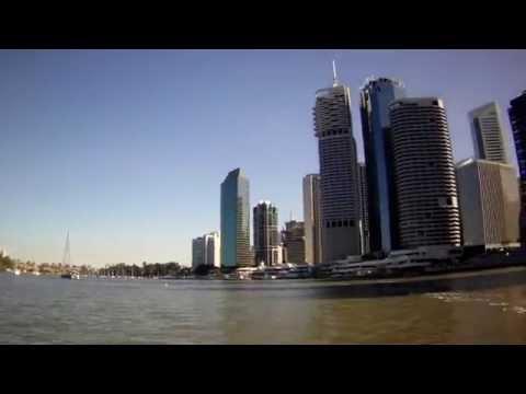 Brisbane CityHopper Ferry Ride: Eagle Street - Dockside (4 x speed), QLD, Australia, 02/09/15