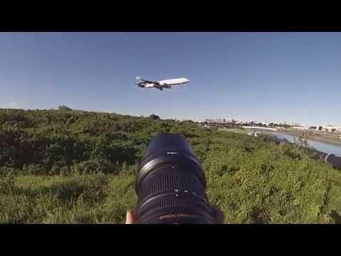 Sydney Airport Plane Spotting - GOPRO LENS POV.