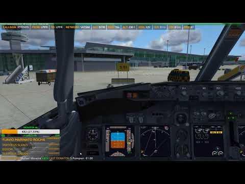 AMAZING FLIGHT RYANAIR VIRTUAL PORTO TO FARO