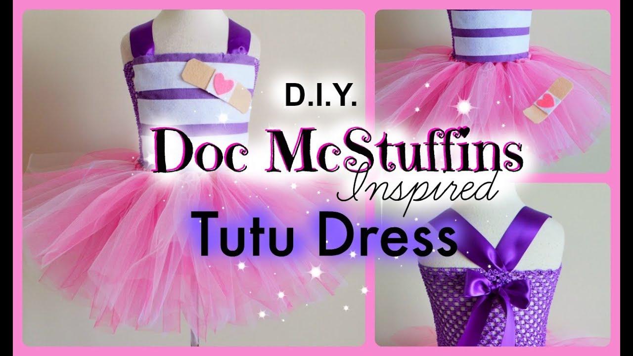 Diy doc mcstuffins costume tutu dress youtube solutioingenieria Choice Image