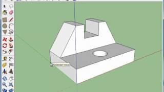 Видеоурок SketchUP 6 урок инструменты размеров