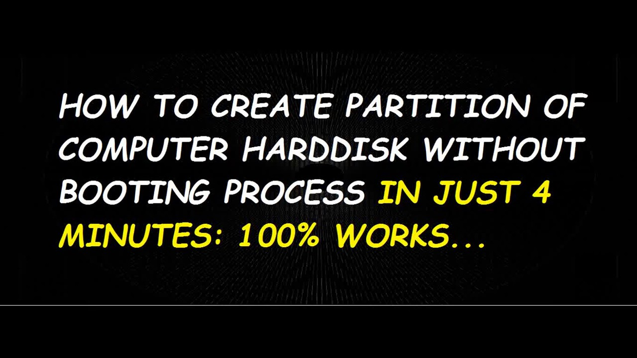 how to create hard disk partition