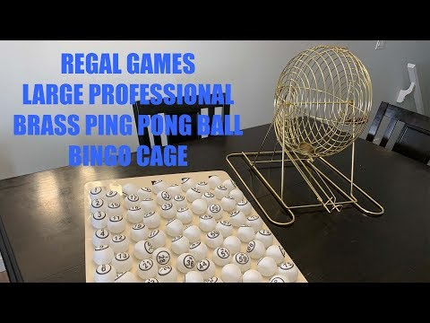 Regal Games Large Ping Pong Ball Bingo Cage