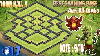 Best Th9 farming base champion. Town hall 9 New Update Clash Of Clans 2017