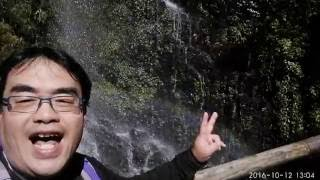 20161012~1013, 能高越嶺西段奇萊南華行山上天氣變幻莫測! 上山天晴瀑布...