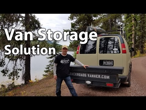Van Life: Extra Storage For Van Dwellers / Travelers Using A Cargo Box & Carrier On The Tow Hitch