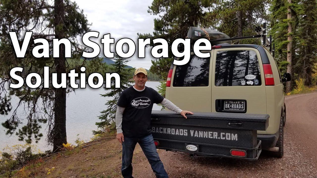 Rv Bumper Hitch >> Van Life: Extra Storage For Van Dwellers / Travelers Using ...