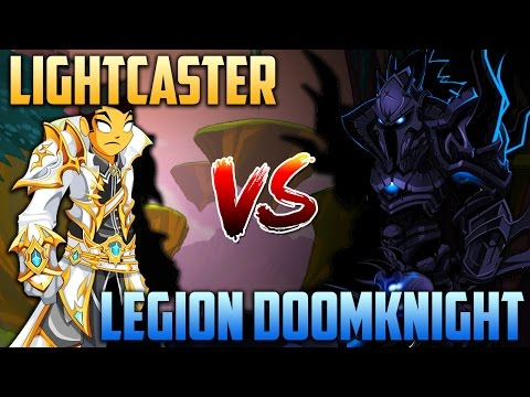 LIGHTCASTER vs LEGION DOOMKNIGHT - Soloing (AQW Class Comparison)