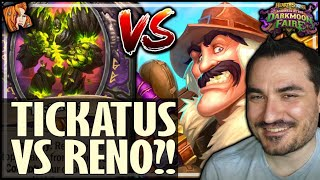 TICKATUS VS RENO = MAX LOLS - Hearthstone Darkmoon Faire