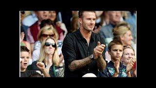 David Beckham erhält die Auszeichnung des UEFA-Präsidenten