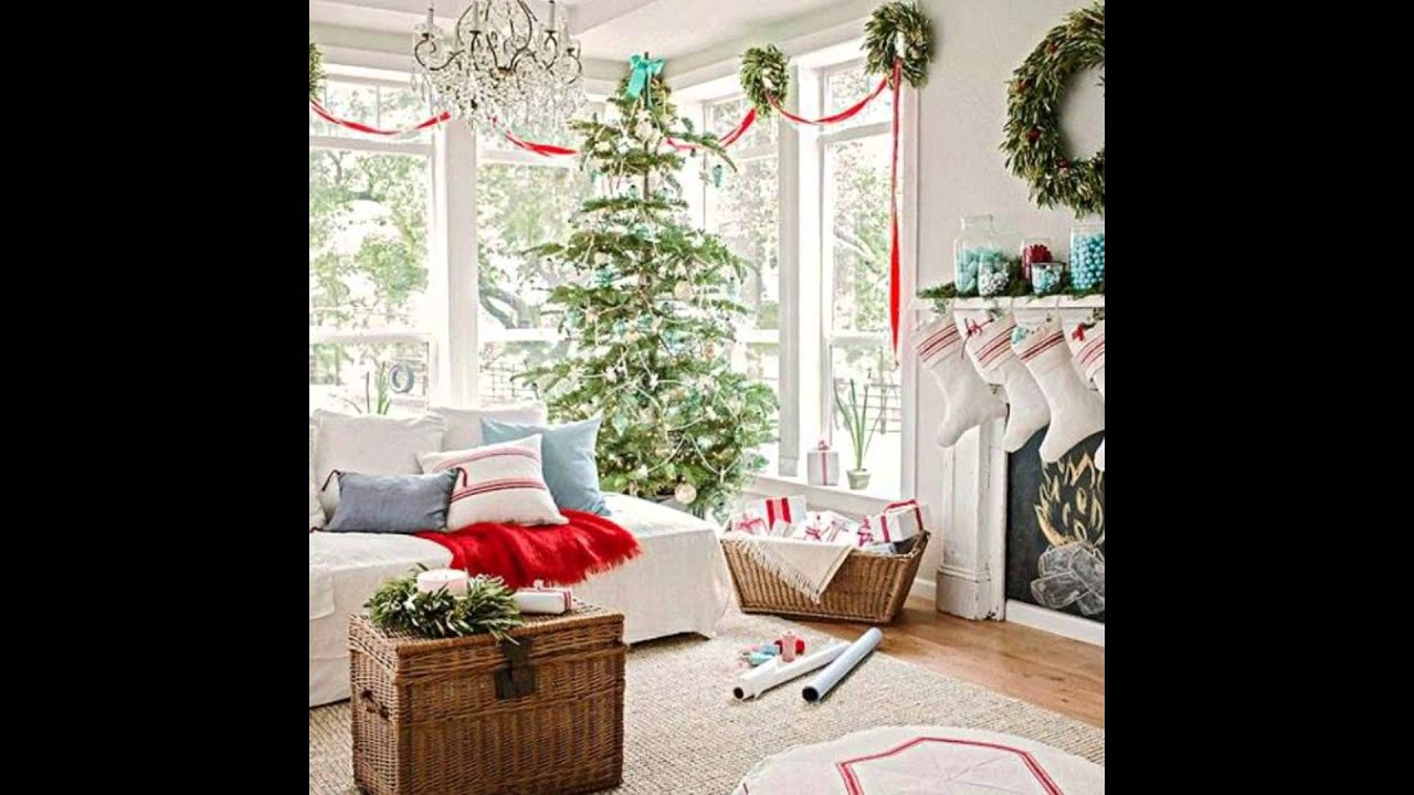 Merry Christmas Decorating Ideas For Living Rooms And Fireplace Mantels Youtube