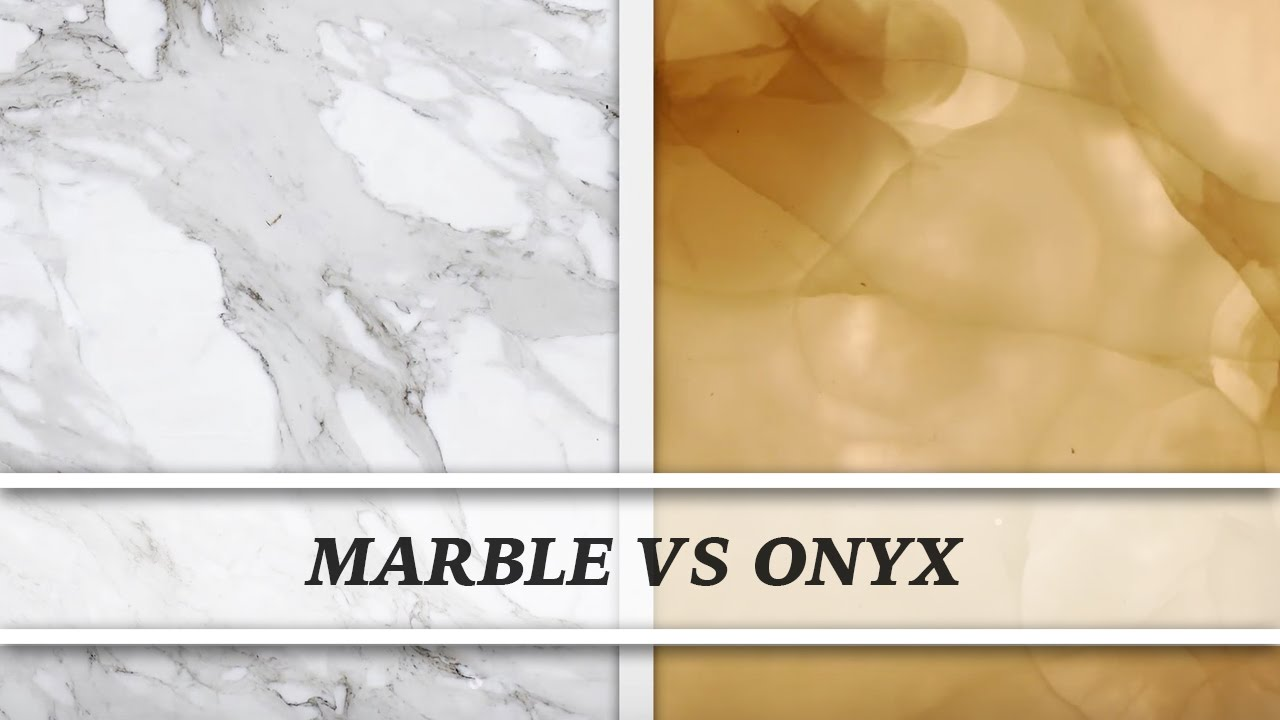 Marble Vs Onyx Countertop Comparison Youtube